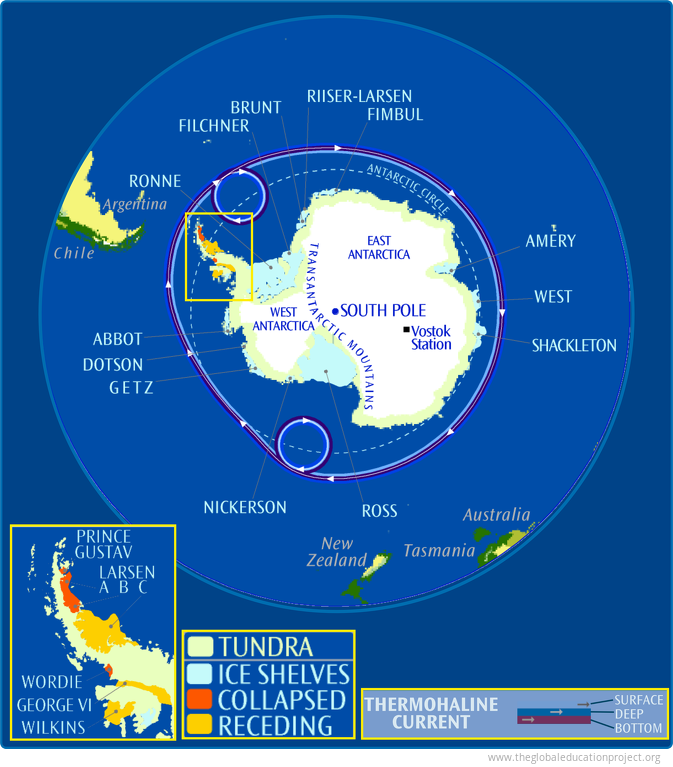 Antarctic Geography, Ice, and Currents