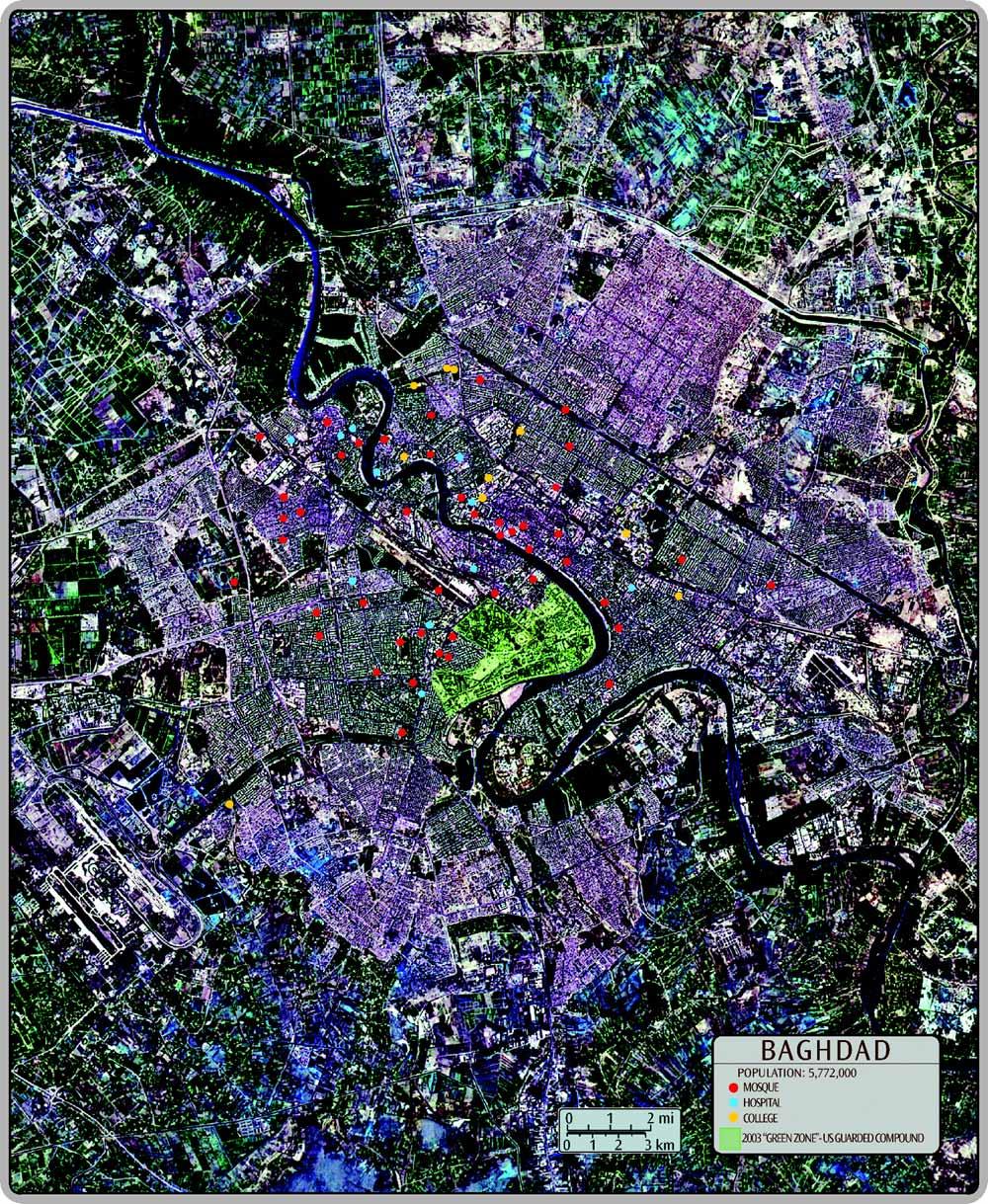 aerial photo map of baghdad