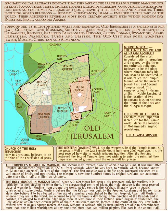 Old Jerusalem Map - Jerusalem map world