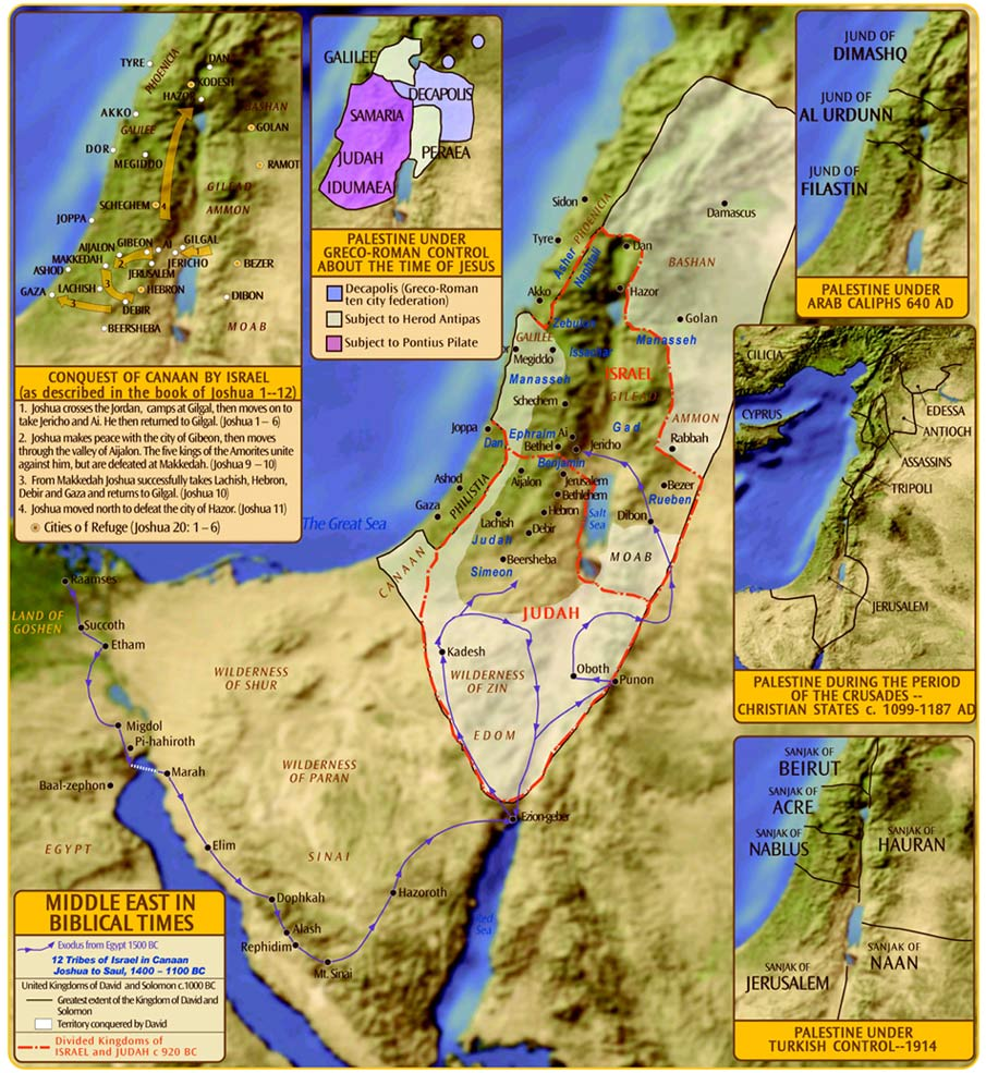 Palestine In Biblical Times Map - Map of egypt during exodus