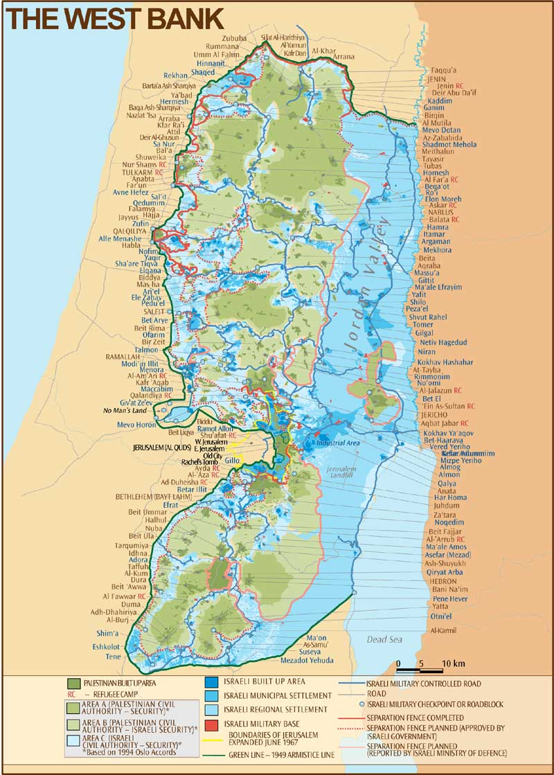 West Bank 2003 Map